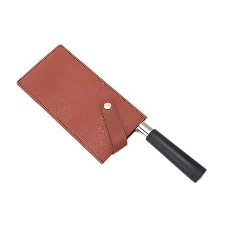 QEES Cubiertas de piel para cuchillos, protector de ...