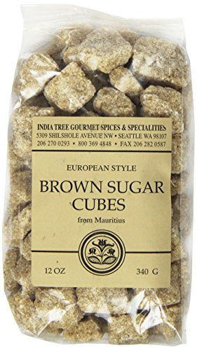 India Tree Brown European-Style Sugar Cubes, 12 oz Bag (Pack of 3)