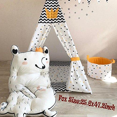 Haute Baby Jungle (Fox Baby Play Mat - Cartoon Floor Mats Non Toxic Girl Gym Carpet Cotton Infant One Piece)