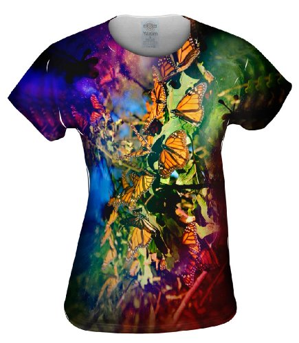 Yizzam- Tiedye Butterflies -TShirt- Womens Shirt-X-Large (Butterfly Tie Dye)