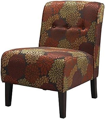 Amazon Com Mainstays Amanda Armless Accent Chair Navy