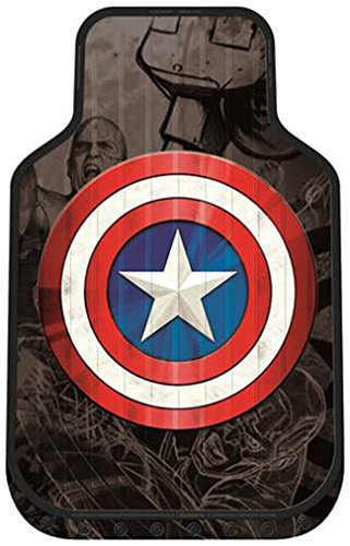 Plasticolor 001590R01 Marvel Captain America Shield FM Floor Mat