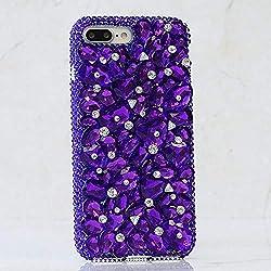 Genuine Purple Stones Crystals Protective Case
