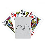 Wrist Wrestling Black Cute Chat Emoji Poker Playing Card Tabletop Board Game Gift