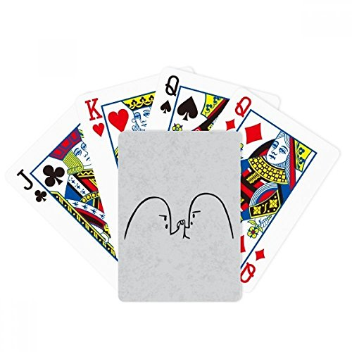 Wrist Wrestling Black Cute Chat Emoji Poker Playing Card Tabletop Board Game Gift by beatChong