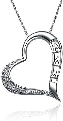 Heart Shape Design Greek Star Delta Delta Delta Necklace a 18 Silver Chain DDD-P012