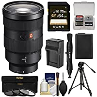 Sony Alpha E-Mount FE 24-70mm f/2.8 GM Zoom Lens 64GB Card + Battery & Charger + Tripod + 3 Filters + Kit