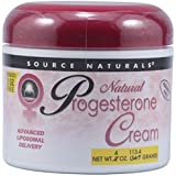 Source Naturals Progesterone Cream Advanced Liposomal Delivery - Paraben Free Hormone Replacement Therapy For Menopausal Symptom Relief - Restore Balance and Bone Building Stimulation - Wild Yam Root Extract Jojoba Oil Ginseng Root & More - 4 Ounces