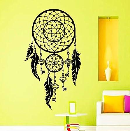 Noir 48 x 0.1 x 68 cm Polyvinyle D/écorations murales adh/ésives 48*68 Attrape R/êves