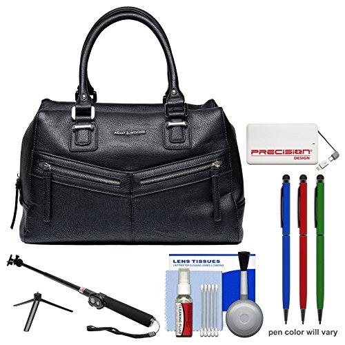 kelly-moore-ruston-camera-tablet-bag-with-shoulder-messenger-strap-black-with-selfie-stick-portable-