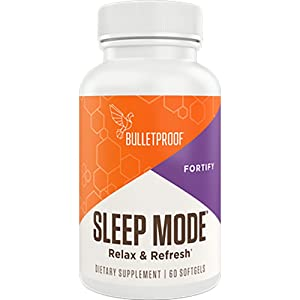 Bulletproof Sleep Mode Softgels, Plant-sourced Melatonin That Helps You Relax, Fall Asleep Faster, and Feel Refreshed (60 Softgels)