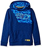 Under Armour Sc30 Fleece Hoody Warm-up Top - Royal/Taxi, Youth Small