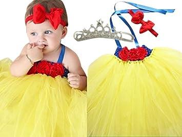 d9a1f6463cd3d 白雪姫 風 チュチュ ドレス 誕生日 結婚式 ドレス フラワーガール 記念 撮影 新生児 ハーフバースデー