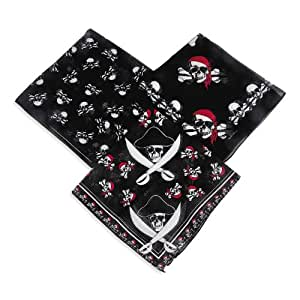 Fun Express Polyester Pirate Bandana - Pirate Party Favor (Pack of 12)