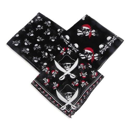 [Fun Express Polyester Pirate Bandana - Pirate Party Favor (Pack of 12)] (Childrens Pirate Bandana)