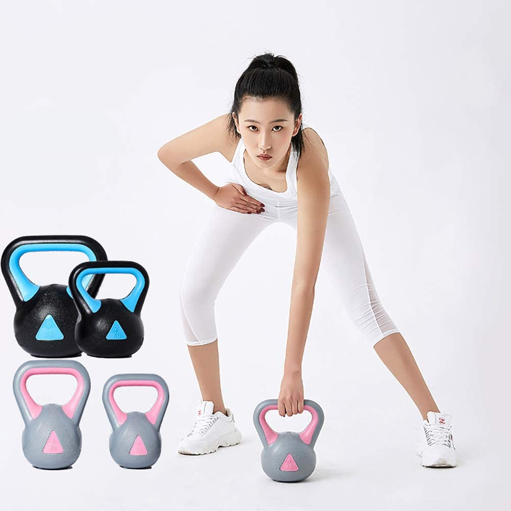 Pesa Rusa Pesas Kettlebell Fitness Body Building Family Muscle Strength Training Gym Mancuernas para Hombres Y Mujeres 2kg-8kg