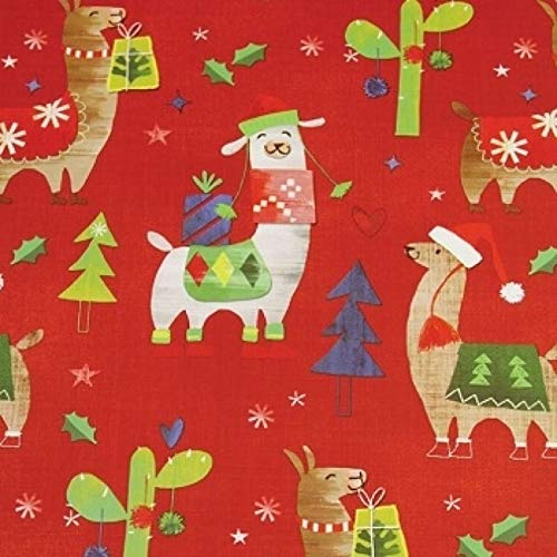 Gift Wrapping Paper – 30 Inch x 10 Foot – Folded Flat Sheet – Premium Quality – Made in Italy (FA La Llama)