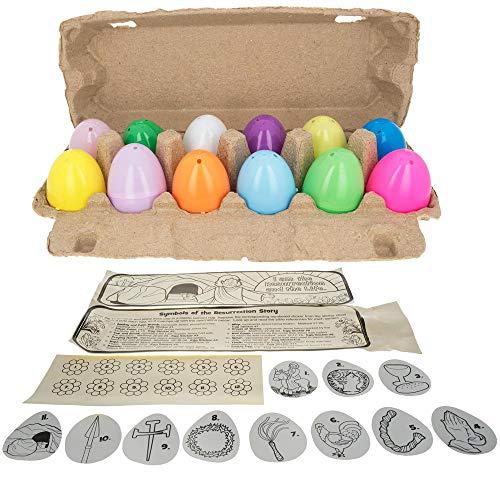 BestPysanky Resurrection Story 12 Plastic Easter Eggs Craft Kit DIY