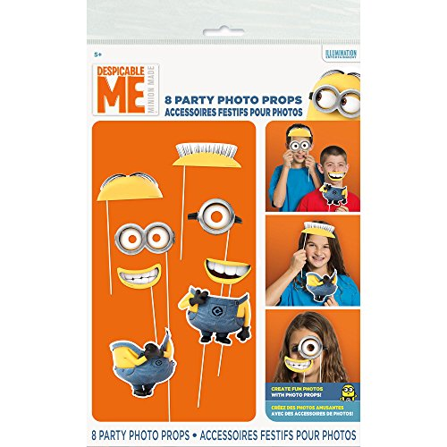 Despicable Me Party Photo Props [Set of 8]