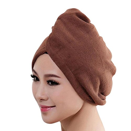 Botrong Microfiber Bath Towel Hair Dry Hat Cap Quick Drying Lady Bath Tool (I)