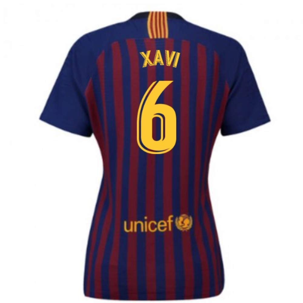 2018-2019 Barcelona Home Nike Ladies Football Soccer T-Shirt Trikot (Xavi 6)