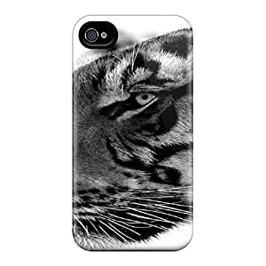 Case Cover Black And White Cat/ Fashionable Case For Iphone 4/4s