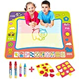 BCMRUN Water Doodle Magic Mats,31.5*23.6 inches Painting Doodle Water Mat with 4 Water Drawing Pen for Kids