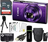 Canon PowerShot ELPH 360 HS 20.2MP 12x Zoom Full-HD 1080p Wi-Fi Digital Camera (Purple) + SanDisk 32GB Card + Reader + Spare Battery + Case + Accessory Bundle Review