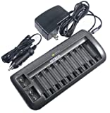 Hitech 12 Bay Battery Charger for Aa - Aaa - 9V Batteries