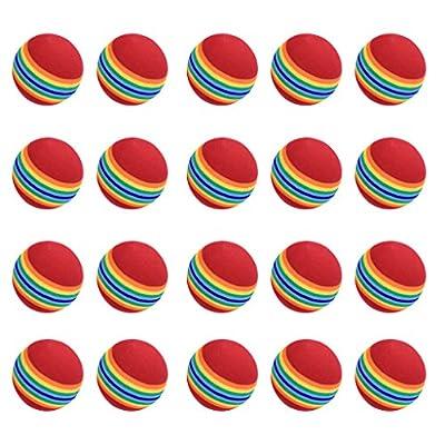 Lowpricenice 20pcs Sponge Golf Ball Golf Training Soft Balls Practice Ball