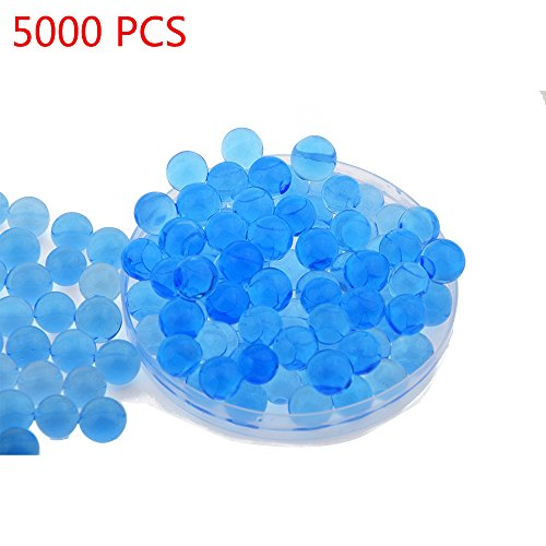 Candora 5000pcs Water Beads Crystals Mud Crystal Water Gel Beads Soil Beads Crystal Soil Plant Flower Jelly Crystal Soil Mud Water Pearls Gel Beads Balls for Kids Vases (Blue)
