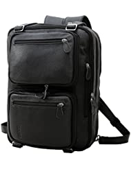 Tiding Mens Genuine Leather Backpack Multi-purpose Laptop Messenger Shoulder Weekend Luggage Duffle Gym Bags...