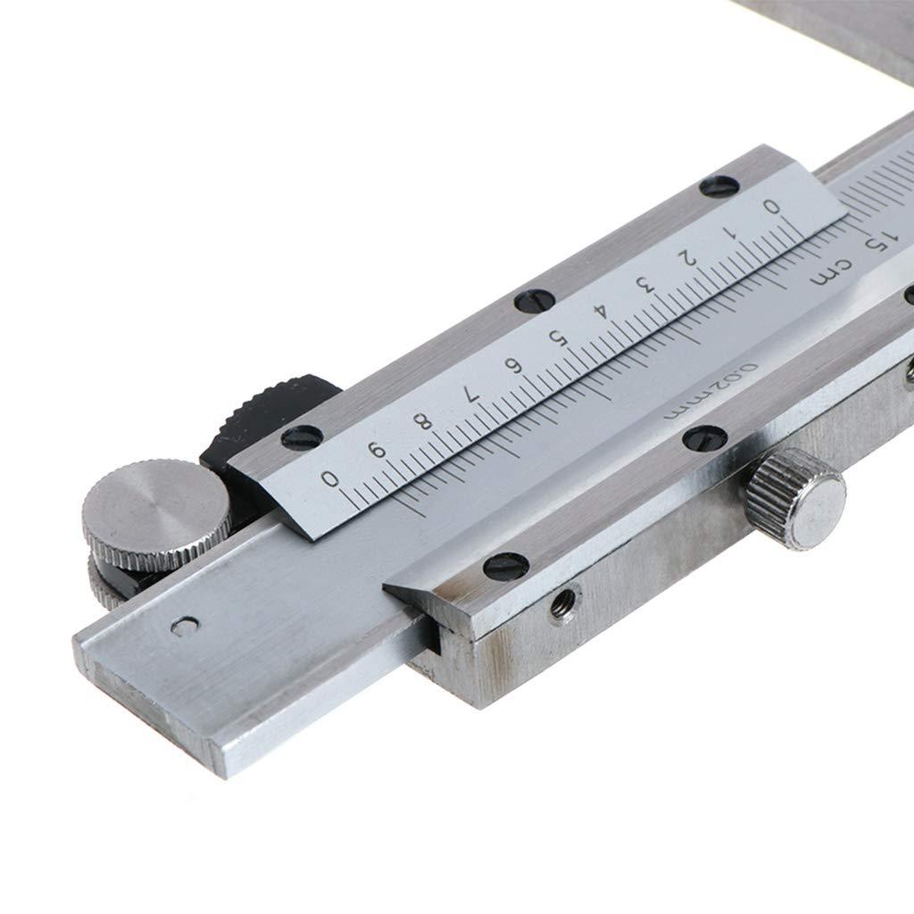 Calibro interno con scanalatura Vernier 9-150 mm//0,02 in acciaio inox 2 artigli