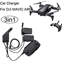 DZT1968 3in1 Car Charger Adapter Double Electric Plate For DJI Mavic Air