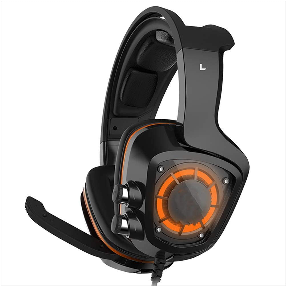 Soft Breathing Earmuffs Mute/&Volume Control for Mac Smartphone Tablet Laptop NOCTIC Gaming Headset for PS4 PC Gaming Headphone with Microphone