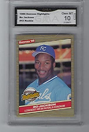 Amazoncom 1986 Bo Jackson Baseball Rookie Card Donruss Highlights
