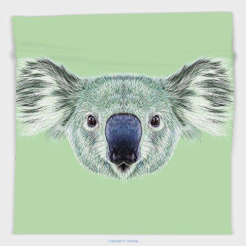 Vipsung Microfiber Ultra Soft Hand Towel-Animal Tropical Koala Bear Portrait Cute Jungle Hipster Zoo Wild Graphic Print Mint And Reseda Green For Hotel Spa Beach Pool Bath