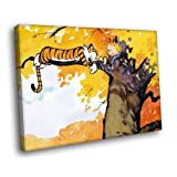 HH2976 Calvin And Hobbes On The Tree 16x12 CANVAS FRAMED Reprint