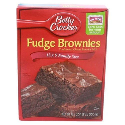 Betty Fudge Brownie Mix 18.3 OZ (Pack of 24)