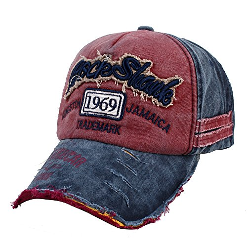 ccbf2077415325 Vankerful Unisex Washed Cotton Baseball Caps Adjustable Snapback Fashion  Embroidered Hip Hop Trucker Hat Navy Burgundy < Baseball Caps < Clothing,  ...