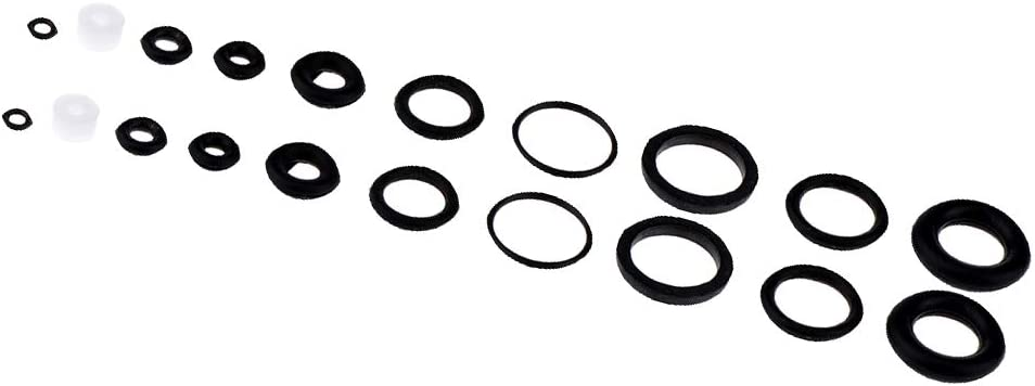 dailymall 40pcs Rubber O-rings For Airbrush Vehicle Valve AC084