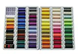 Simthread 63 Spools 220 Yards Polyester Embroidery Machine Thread for Brother Babylock Janome Singer Pfaff Husqvarna Bernina Machines