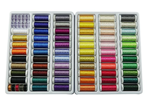 63 spools polyester embroidery machine