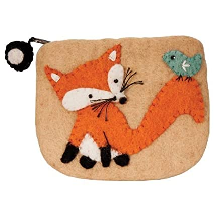 Amazon.com: Dzi Felted cartera – Fox cartera titular de la ...