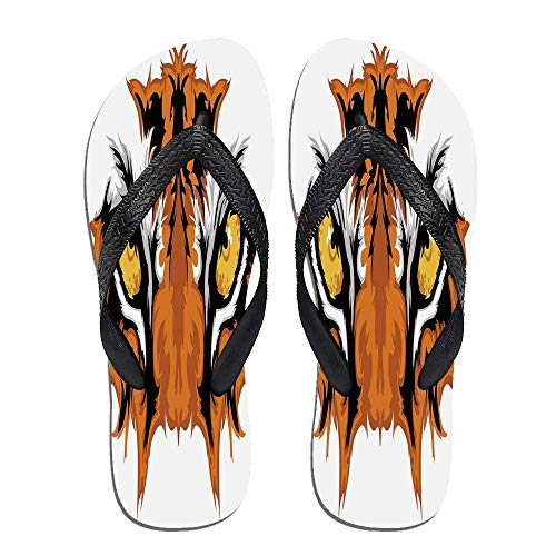 Eye Thong Flip Flops,Tiger Eyes Graphic,for Men&Boys