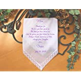 Mother of the Bride Gift mother of the groom gift mother in law Handkerchief printed wedding handkerchief wedding gift idea keepsake LS6FCAC by Snugahug[4]