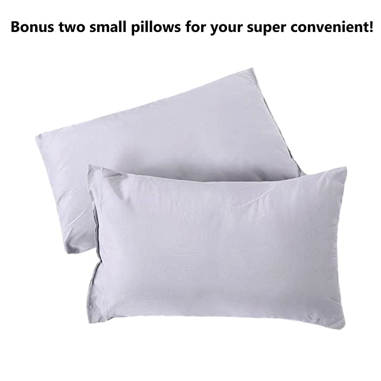 Comes with a convenient carrying bag, and two small pillows that gives your neck some good, solid support