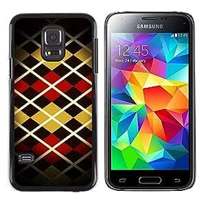 TopCaseStore / la caja del caucho duro de la cubierta de protección de la piel - Pattern Design Fashion Stripes Style Art - Samsung Galaxy S5 Mini, SM-G800, NOT S5 REGULAR!
