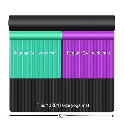 YUREN Oversized Yoga Mat 130 cm Wide NBR Made Thickness 10 mm 200 cm 130 cm Parent Child Yoga Mat Beginner Training Mat Exercise Stretch Mat with Storage Bag