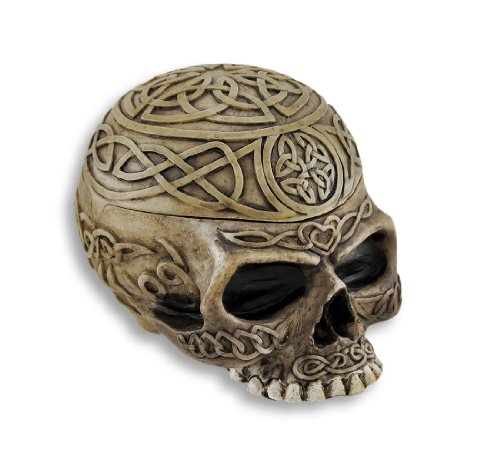 Celtic Skull Trinket Box Ashtray Ash Tray Stash